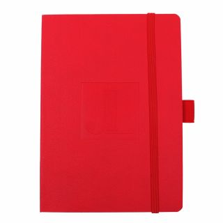 Embossed red Journal with JL logo